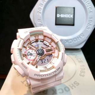 * FREE DELIVERY * Brand New 100% Authentic Casio GShock Mini Rose Gold G Shock S Series for Ladies G-Shock GMAS110MP 4A1 GMAS110MP-4A1DR