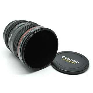 Gelas Minum Bentuk Lensa Kamera - Black