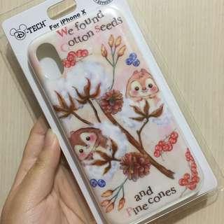 🇯🇵日本Disney store iPhoneX case 軟殼包4邊 Chip&Dale
