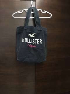 包郵💌 絕版 Hollister tote bag a4 size deep blue 環保袋 布袋