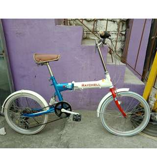 RAYCHELL FOLDING BIKE (FREE DELIVERY AND NEGOTIABLE!)