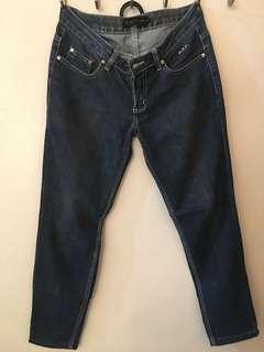 R.A.F Plains & Prints Blue Denim Pants