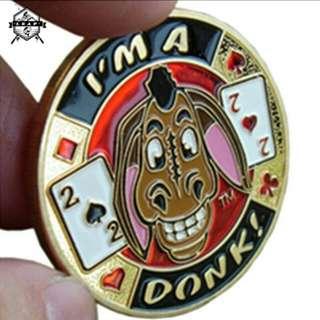 Metal Coins Poker Card Guard Protector