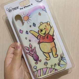 iPhone X Case 日本迪士尼 包4邊軟殼 Winnie the Pooh
