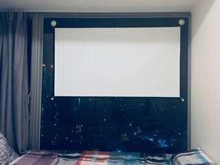 60吋 (inch)。Projector Screen 白色 玻璃纖維 投影機螢幕