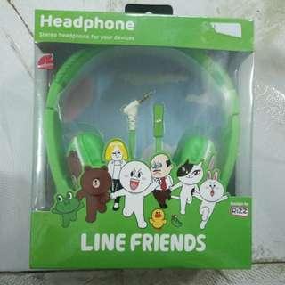 全新未開封Line Friends Headphone