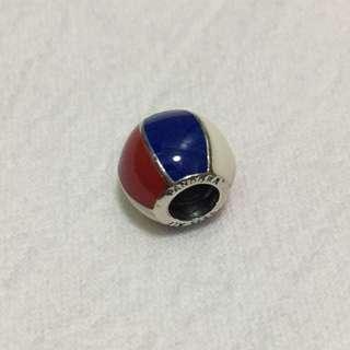 Pandora 紅白藍波波圓珠 charm