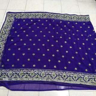 Bollywood purple Saree