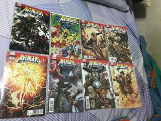 Marvel comics avengers 675-682