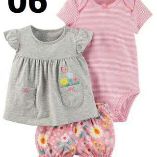 Baju bayi carter 3in1 baby cewe