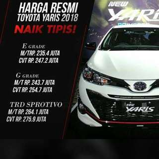 New YARIS 2018 Ready Stock