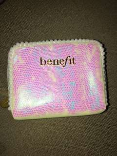 Benefit iridescent pouch