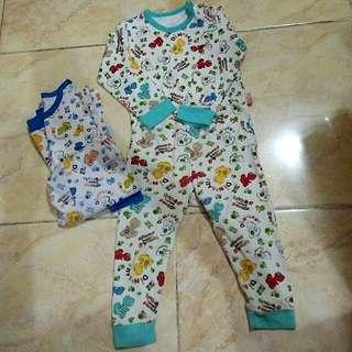 Baju tidur motif dino ( 1thn-2thn) take all