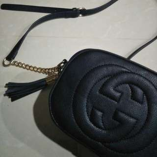 GUCCI Disco Bag Soho Leather Crossbody Bag