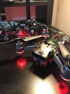DJI Spark Fly More Combo with Camo Decal Sticker