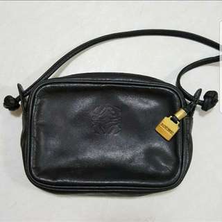 Loewe 古董小手袋 vintage Small Bag/black 黑