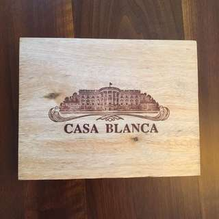 Casa Blanca Wood Cigar Box