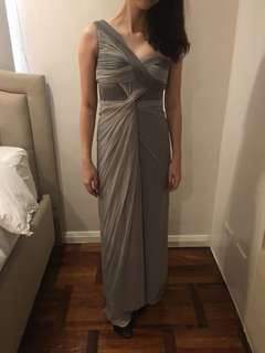 Gray Gown with Draping