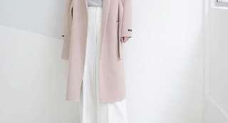 Korea handmade wool long coat