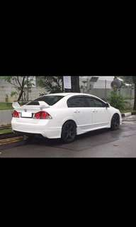 Civic fd original rear bumper and mugen rear lip bodykit