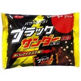💥現貨! 特價🍬[有樂製菓] 日本黑雷神巧克力迷你棒【家庭包裝】173g 【賞味期限:2018.07】