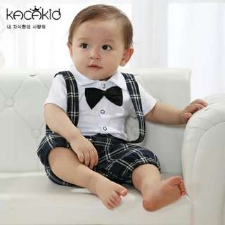 Gentlemen bodysuit with tie (Black & white)