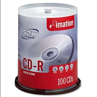 Imation 52x CD-R 700MB 80 Min 100 Pack Spindle