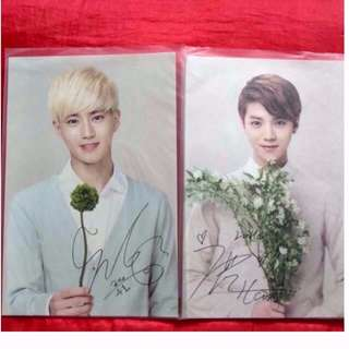 Nature Republic Exo 簽名Postcard (Each $12)