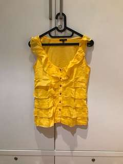 Massimo Dutti Bright Yellow Summer Top (Size S)