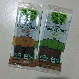 stretch island original fruit leather 水果片 果醬片
