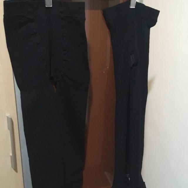 2 pairs Black stretchable leggings