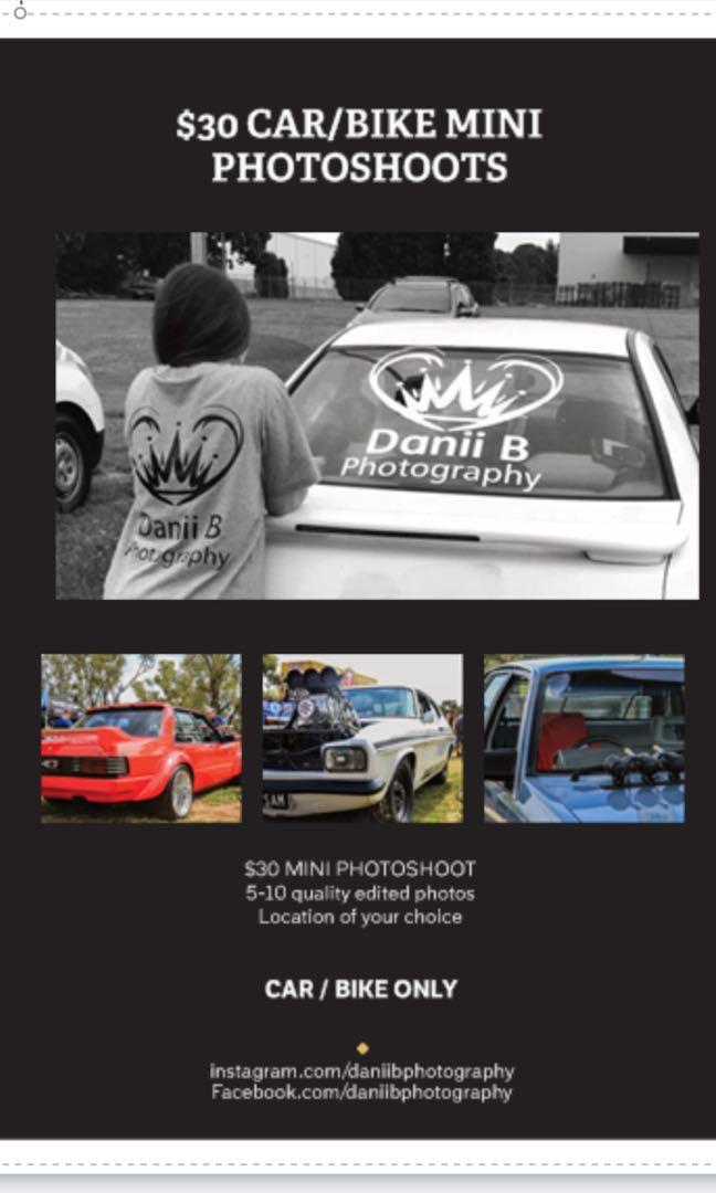 $40 MINI car / bike PHOTSHOOTS
