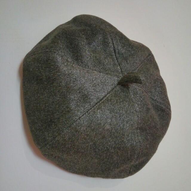 灰畫家帽/八角帽/貝雷帽