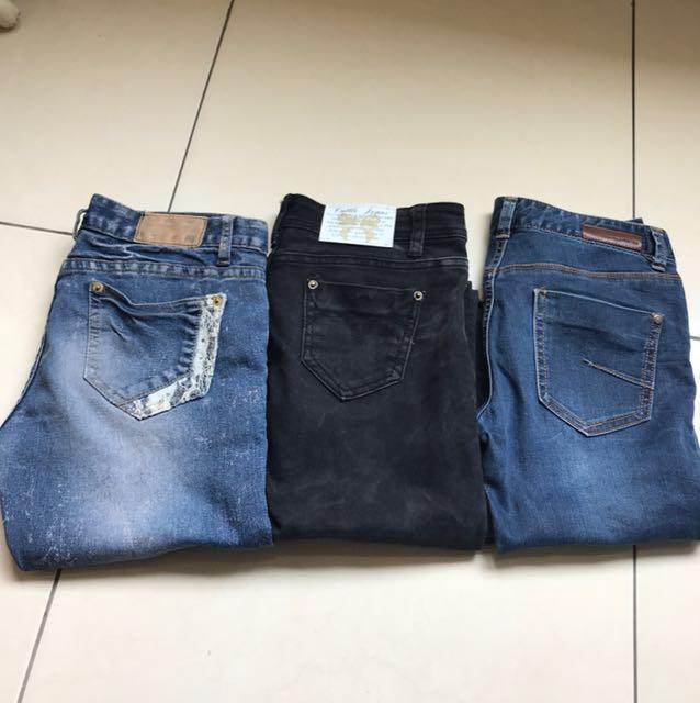 顯瘦牛仔長褲/黑褲(兩件一起帶再折價)#換季五折