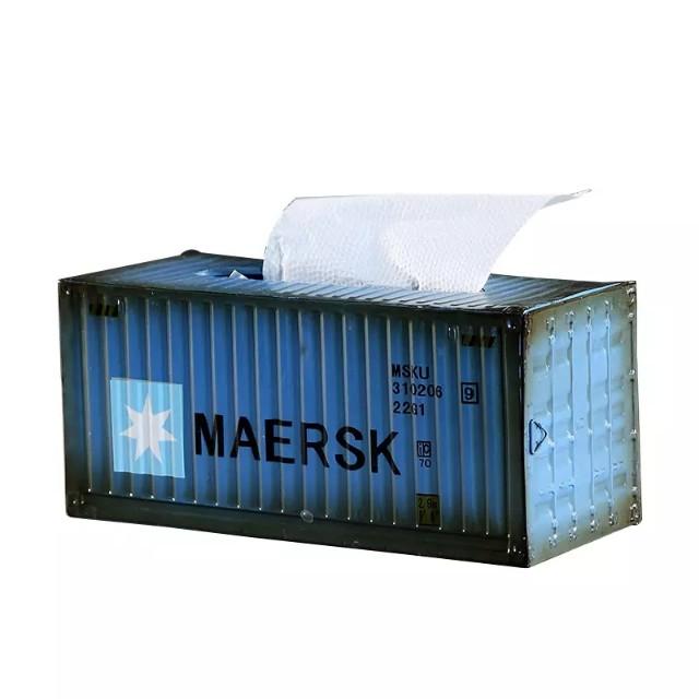 工業風 貨櫃造型面紙盒