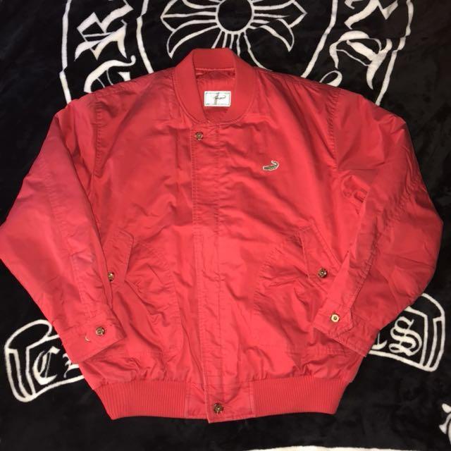 古著 日本 Crocodile 電繡LOGO 素面 復古 保暖 棒球外套 休閒外套