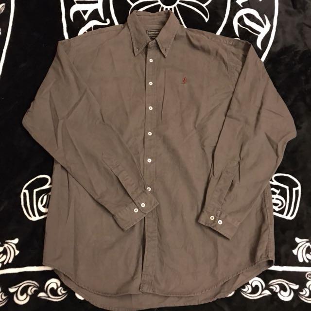 意大利 MCS Marlboro Country Store 素面 電繡LOGO 工作襯衫 休閒襯衫