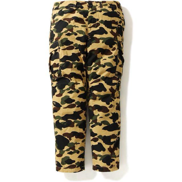 A Bathing ape Bape 1ST CAMO 6 POCKET PANTS 黃迷彩 6口袋工作長褲