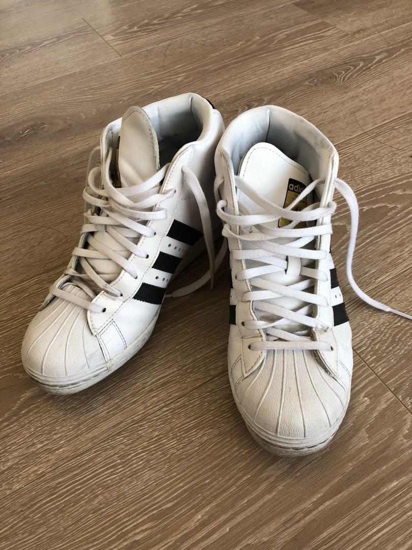 Adidas superstar wedge sneakers