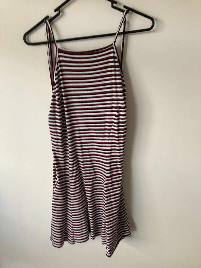 all about eve striped beach dress