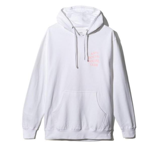 Anti Social Social Club Hoodie  (White and Pink)