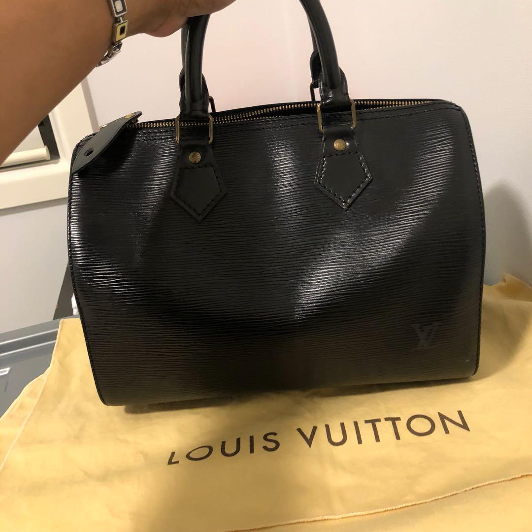 Authentic Louis Vuitton epi noir speedy