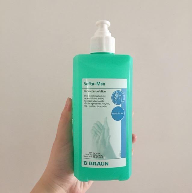 Softa Man Hand Disinfection Bottle 1 Litre By B Braun Petzold