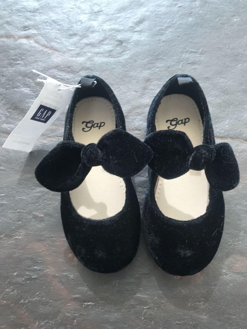 Baby Shoes gap velvet bow flats, Babies