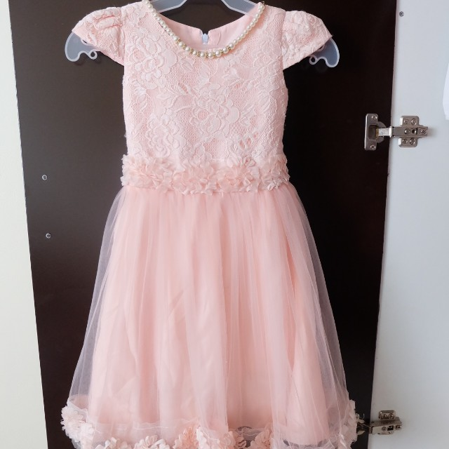 Beautiful Peach Dress for 5 to 7 years old