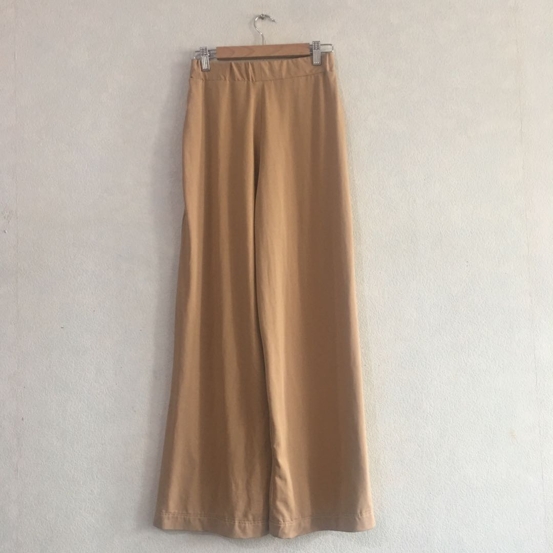 Beige wide legged pants
