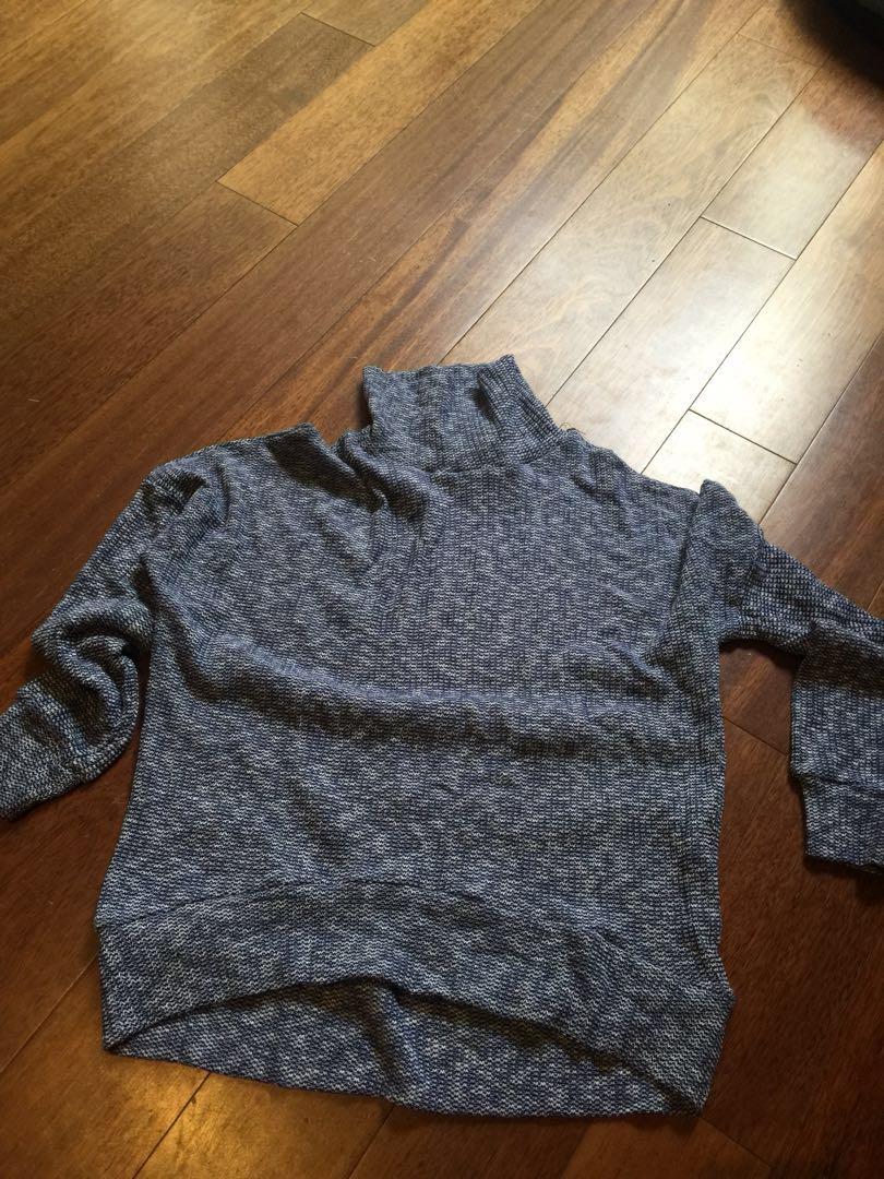 blue oversized jumper