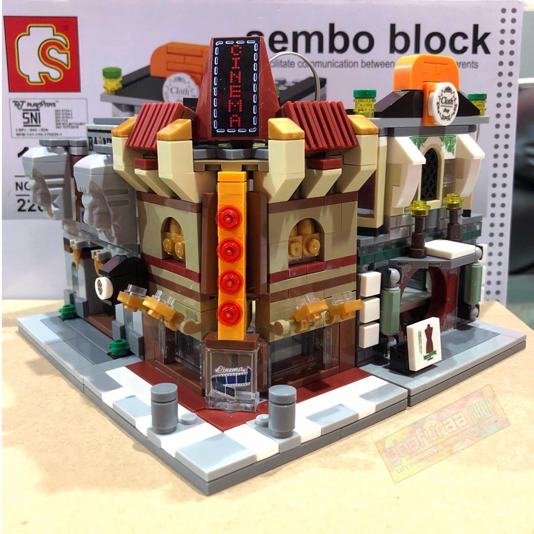 Brick Sembo Block Besar - Lego mini world Puzzle Balok kota bangunan Gedung Mainan Kado Anak