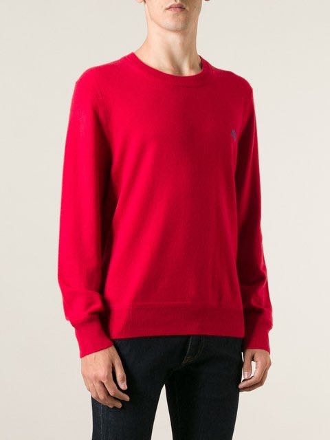 Burberry Men's red cashmere sweater