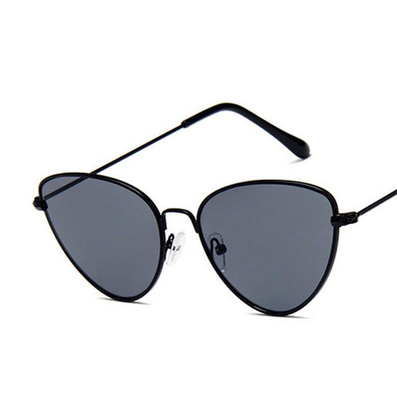 Cat Eye Black Frame and Black Lens Sunglasses
